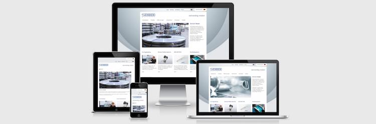 Responsiv Webdesign Schock Metall
