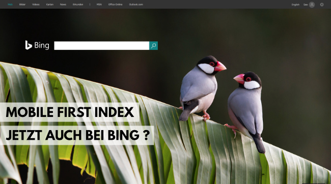 Bing Index jetzt auch Mobile First Index