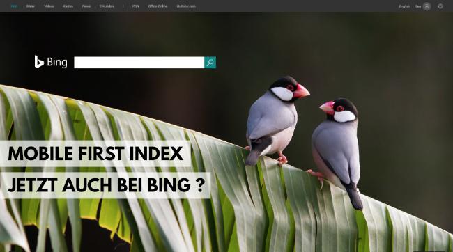 Bing Index jetzt auch Mobile First Index