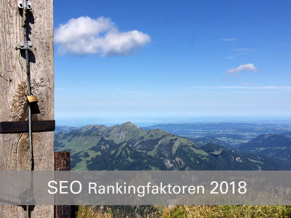 Die TOP8 Rankingfaktoren 2018